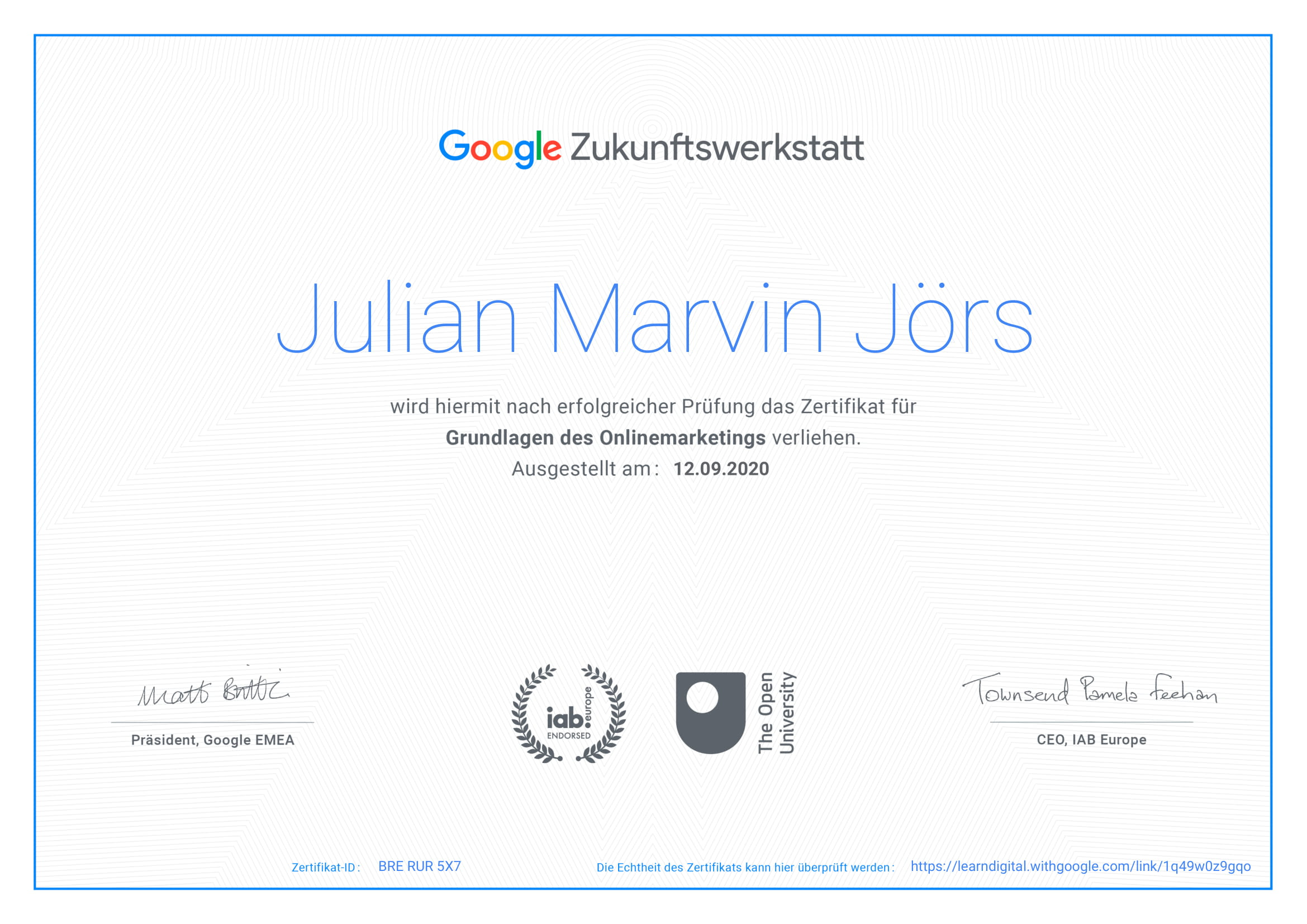 Zertifikat Google Zukunftswerkstatt-1